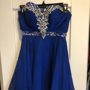 Royal blue beaded dress